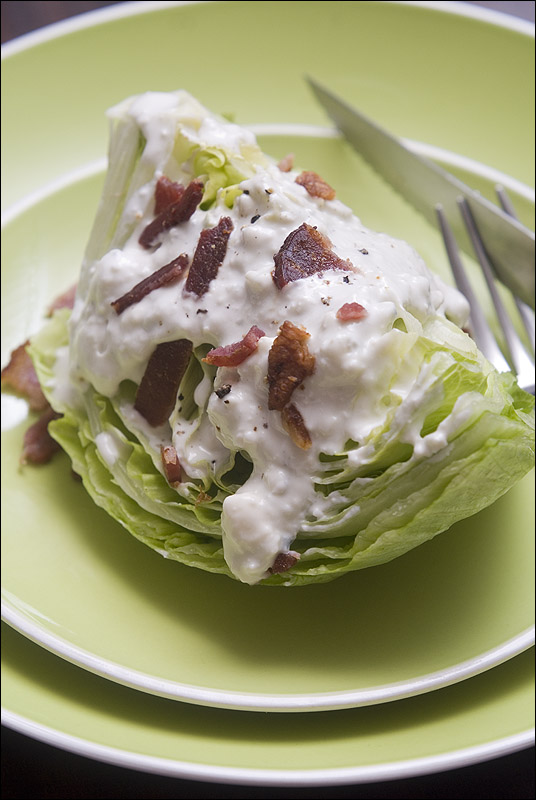 Blue cheese dressing. Iceberg and bacon optional. © Ryan Schierling
